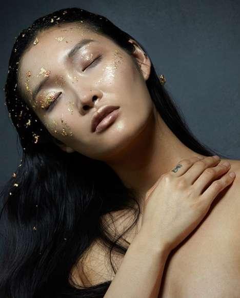 Ethereal Gold Leaf Makeup