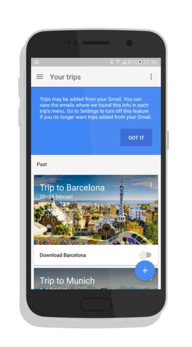 Comprehensive Travel Apps - The Google Trips App Makes It Easier to Book Vacations on a Smartphone
