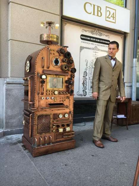 Steampunk-Style ATMs - CIB Bank's 'Bankomat' is a Cash Machine Inspired by the 1800s