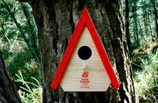 Fire-Alerting Birdhouses - The Connected Birdhouse Can Send Out a Signal and Forest Fire Warning