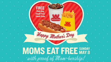 Tasty Mother's Day Giveaways - This Wienerschnitzel Promotion Rewards Moms with a Free Meal