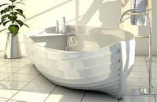 Canoe-Shaped Bathtubs - Ocean by ZADItaly Brings an Outdoor Adventure into the Home
