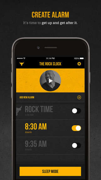 Motivational Alarm Apps - The Rock Creates His Own Alarm Clock App with Personal Ringtones