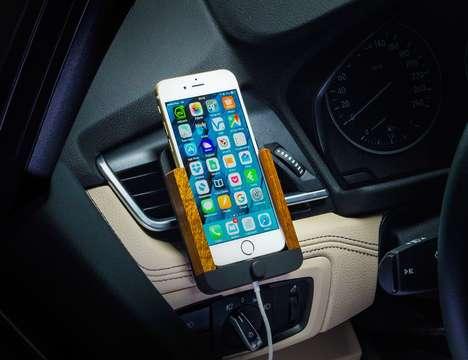 Lightweight Wooden Phone Mounts