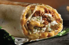 Spicy Hybrid Burritos - The New Jalapeno Popper Quesarito Features Jalapeno Slices and Melted Cheese