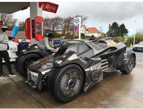Carbon Superhero Vehicles - Team Galag Takes Its Carbon Fiber Batmobile Car to the Gumball Rally