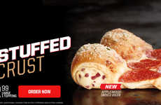Bacon-Stuffed Pizza Crusts - Pizza Hut's New Stuffed Crust Pizza Features Applewood Smoked Bacon