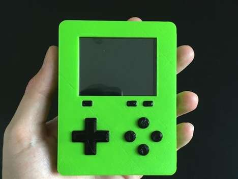 DIY 3D-Printed Video Games - The 'Pirakeet' Handheld Game Console was Created Using a 3D Printer
