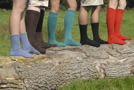Smell-Resistant Socks - These Mohair Socks Don't Require as Many Washes