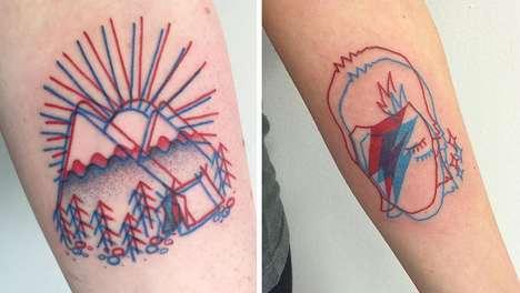 Geometric 3D Tattoos