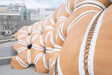 Sea Urchin-Inspired Pavilions