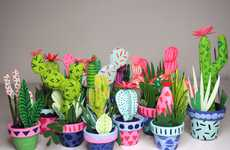 Paper-Made Cacti Art