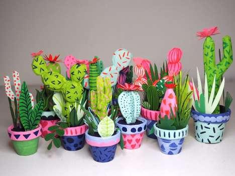 Paper-Made Cacti Art