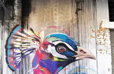 Captivating Avian Street Art