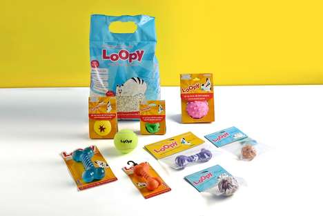 Cartoony Pet Product Packaging - The Loopy Pet Packaging Design Plays on the Notion of Carefree Pets