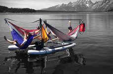 Hybrid Hammock Boats - The Hammocraft Combines a Boat Raft With a Relaxing Lounger
