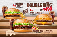 Experimental Burger Menus - Burger King Japan's Newest Dishes Feature Unusual Burger Toppings