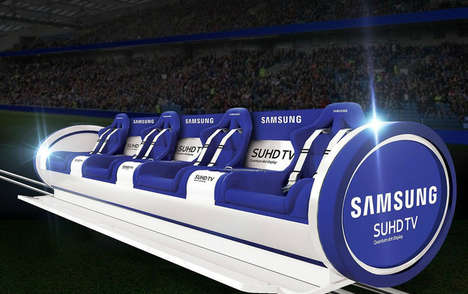 Action-Tracking Stadium Seating - The Samsung 'Slider' Enhances Stadium Events with Moveable Seats