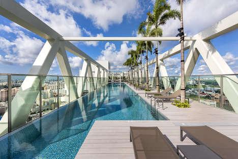 Rooftop Pool Bridges