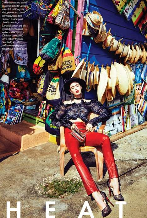 Latin-Inspired Editorials - The ELLE Canada Heat Wave Photoshoot Stars Pamela Bernier