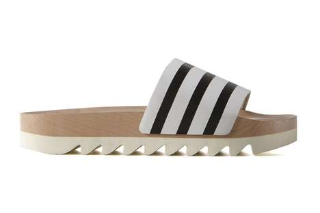 High-Fashion Wood Slides - The Adilette Wood Slides by adidas are a High-Fashion Reinterpretation