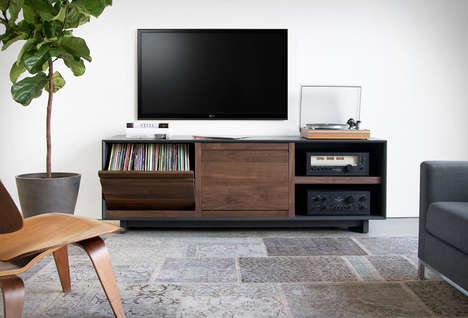 Retro Media-Storing Cabinets