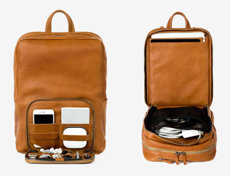 Wireless WiFi Backpacks - The Venture Knapsack Combines Luxe Design with Wearable Tech