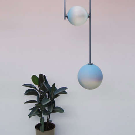 Customizable Hanging Lights - These 'Equalizer' Hanging Lights Can Change Their Color