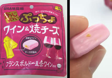 Cheesy Wine Candies - Puccho's 'Ajiyui' Series of Japanese Candies Includes a Wine and Cheese Flavor