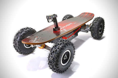 All-Terrain Electric Skateboards - The Maverix Borderx is Designed for Adventurous Off-Roading