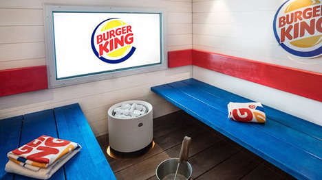 Fast Food Restaurant Saunas - This Burger King Restaurant in Finland Has an In-Store Sauna