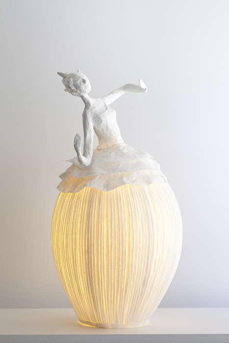Illuminated Female Sculptures
