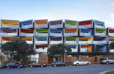 Technicolor Apartment Buildings - This Colorful Apartment Residence Vibrantly Stands Out