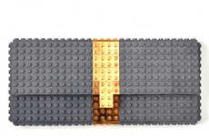 Gilded LEGO Purses - These Fashionable Clutches by Agabag are Constructed From Toy Building Blocks