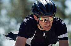 Flyweight Cycling Sunglasses - Rapha's Pro Team Glasses Take Inspiration from Aviators Worn by Pros