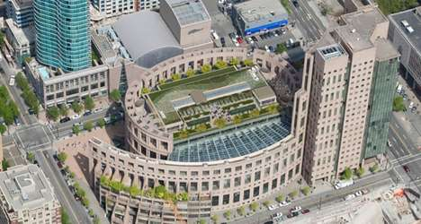 Ecological Library Rooftops - Vancouver Central Library's Top Floor Will be a Green Space Community
