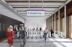 Stylish Public Transit Stations - The 'Crossrail' Underground Line is Set to Open in 2018