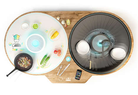 Smart Kitchen Islands - This Smart Island Concept Simplifies the Cooking Process