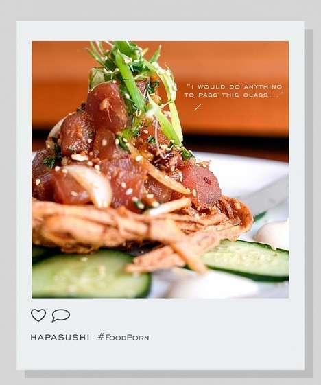 Flirtatious Sushi Ads