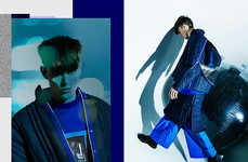 Indigo Futurism Editorials - This Carl King Fashion Story Features Forward-Thinking Apparel