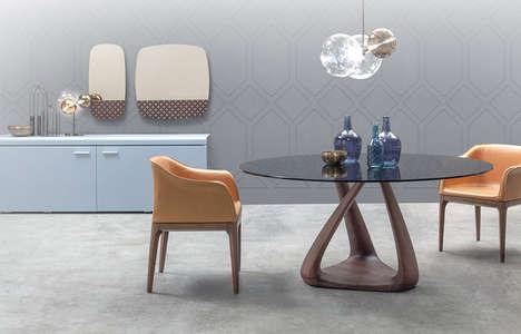 Sculptural Walnut Tables