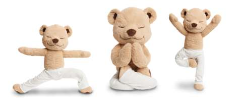 Yoga-Posing Plushies - The Meddy Teddy Encourages Children to be Healthier and More Mindful