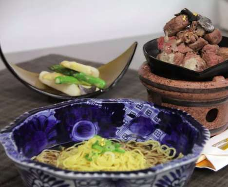 Gilded Ramen Dishes