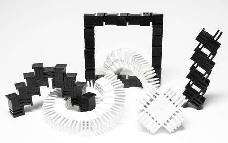 Slot-Connecting Building Blocks