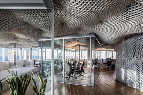 Meshed Cloud Office Ceilings
