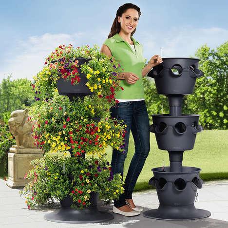 Self-Watering Garden Towers