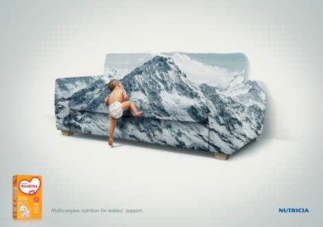 Nutritional Baby Ads - The Nutricia Малютка Campaign Shows the Strength a Toddler Needs