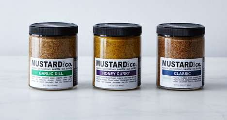 Small-Batch Mustard Sampler Packs - This Set from Seattle's Mustard & Co Includes a Garlic Dill