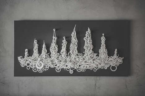 Mechanized Aluminum Artwork
