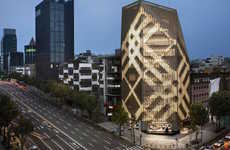 Tartan-Clad Flagships - The New Burberry Flagship Store Bring British Designs to Korea